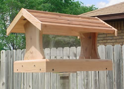 Cedar Hopper Feeder