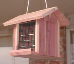 Double Cedar Suet Feeder