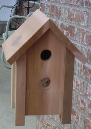 Cedar Post Bird House