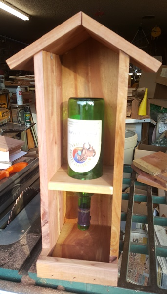 Cedar Wine Bottle Feeder