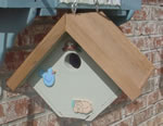 Wren birdhouse with cedar roof
